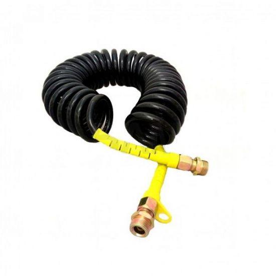 Furtun pneumatic spiralat negru-galben FE