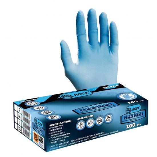 Mănusi de protectie de unică folosintă, nitril albastru