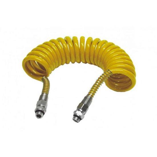 Furtun pneumatic spiralat galben FE