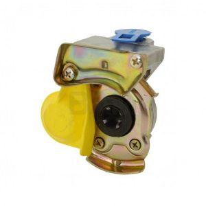 Cuplă aer remorcă, cu supapă, galben - CAR-CSG 16*1.5